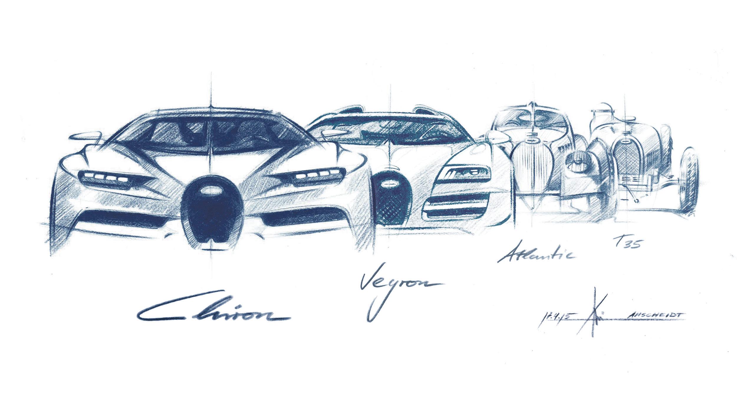 Bugatti chiron historia