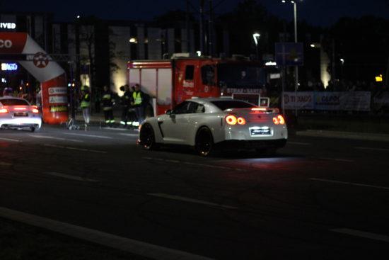 Drag - biały nisan GTR R35 | Night Power