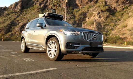 Volvo - testowy pojazd UBERA